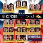 XFN – CZECHIA vs. CHINA | 19.4.2018 | KRÁLOVKA HALL, Prague